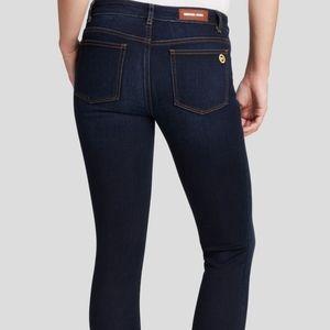 MICHAEL KORS Skinny Darkwash Cropped Denim Jeans